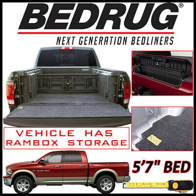 """BEDRUG Classic Bed Mat Truck Liner fits 2009-2019 Ram 1500 w/ 5'7"""" BED & Rambox"""