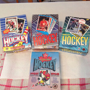 Hockey Cards ..4 different boxes ( O - Pee  -Chee )1990 to 1993