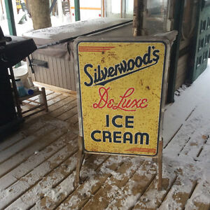 Vintage\Antique Silverwood's ice cream tin sign Stratford Kitchener Area image 3