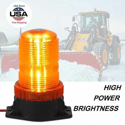 30 Led Amber Car Forklift Roof Beacon Strobe Emergency Warning Alarm Flash Light