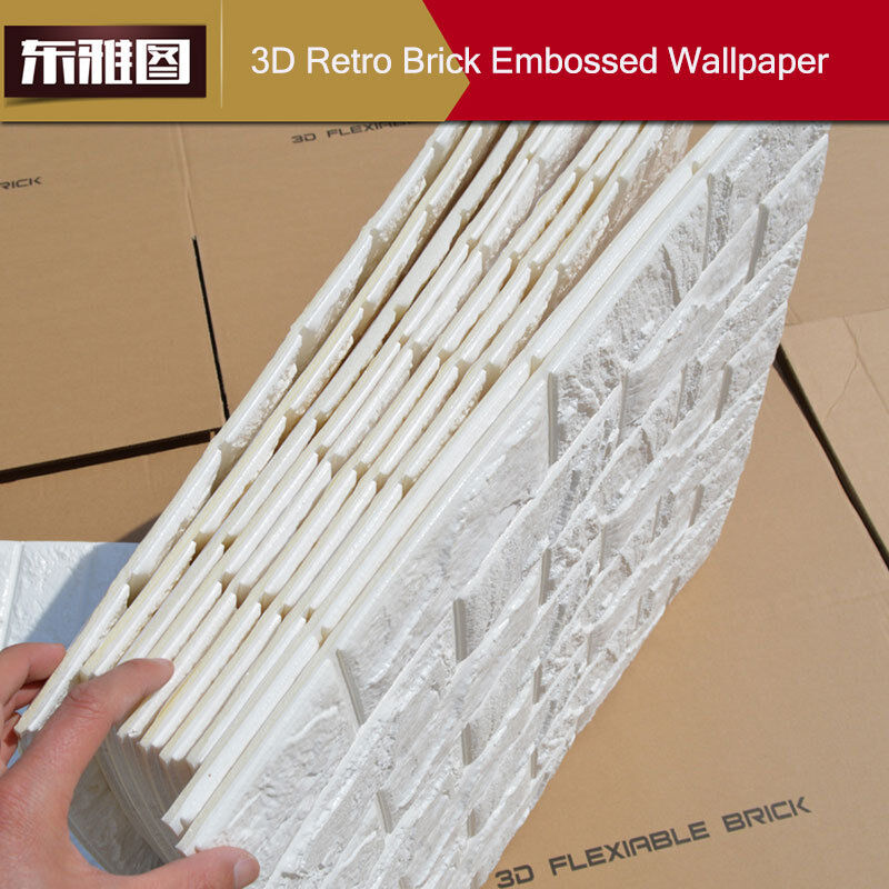 20 rolls 3d effect stone brick wall textured vinyl for 3d self adhesive wallpaper