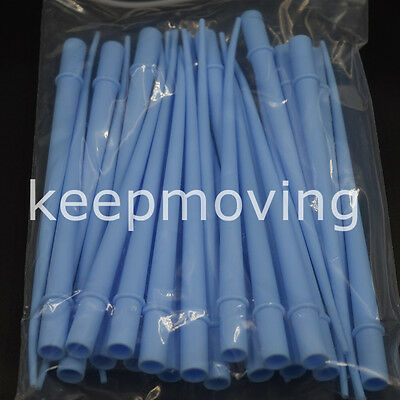 25 Pcs Dental Surgical Aspirator Suction Tips 116 Small Orifice Blue 1 Pack