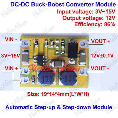 Dc-dc Automatic Step Up Down Voltage Regulator Converter 3v-15v 5v To 12v Module