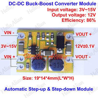 DC-DC Automatic Step Up Down Voltage Regulator Converter 3V-15V 5V to 12V Module ()