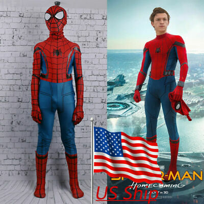 2017 Spider-Man Homecoming Costume Spiderman Kids Zentai 3D Cosplay Costume New (Costume D Halloween 2017)