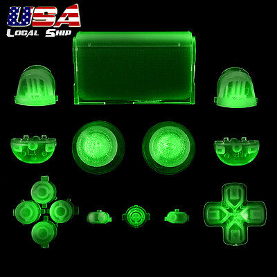 Glow in the Dark Full Set Buttons Dpad Replacement Parts for Sony PS4 Controller