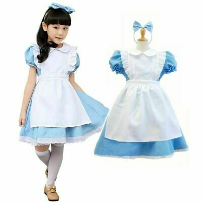 Teen Girl Halloween (Alice in Wonderland Costume Princess Girl Dress for Halloween Child & Teen)