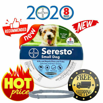Seresto Flea and Tick Collar for Small Dog, Up to 18lbs 7-8 Month Protection