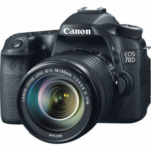 Canon 70D and lenses for sale