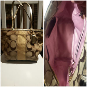 Authentic Brown and Gold Coach Purse