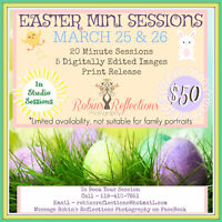 Easter Mini Photography Sessions March 25 and 26
