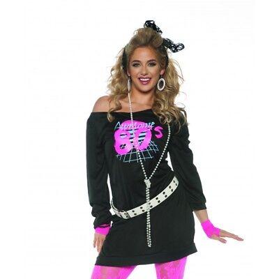Halloween Costumes 80s Rocker (Underwraps Awesome 80's Tunic Rocker Dancer Diva Womens Halloween Costume)