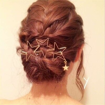 Golden hollow star hair clip is suitable for girls with curly hair and long hair