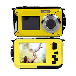 New G050 Double Screens Waterproof Digital Camera