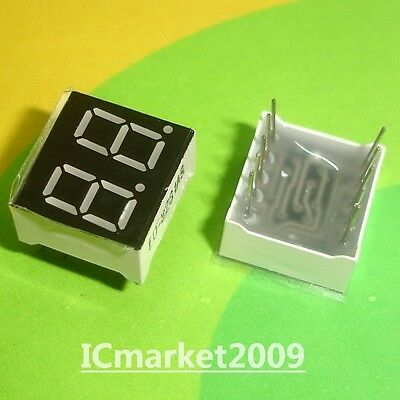 10 Pcs 2 Digit 0.36 Inch Red Numeric Led Display 7seg Segment Common Cathode Bit
