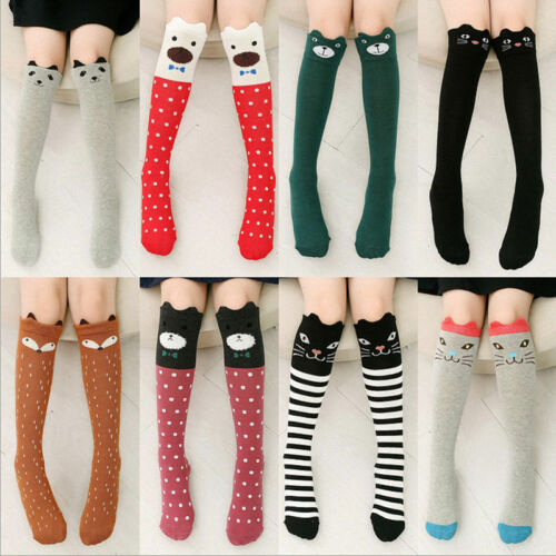For Age 3-12 Baby Kids Toddlers Girls Knee High Socks Tights Leg Warmer Stocking