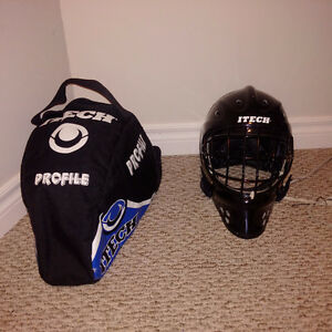 Itech Goalie Mask with Carry Bag Cambridge Kitchener Area image 2