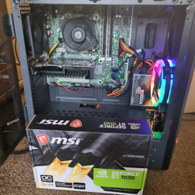 i7 Quad Core Gaming PC, 16GB DDR3, 240GB SSD, GeForce GT1030 2GB GDDR5