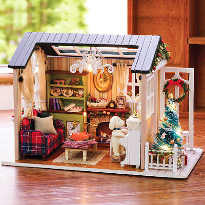 DIY Handcraft Miniature Project My Little Country Lodge In Christmas Dolls House](Diy Christmas Projects)