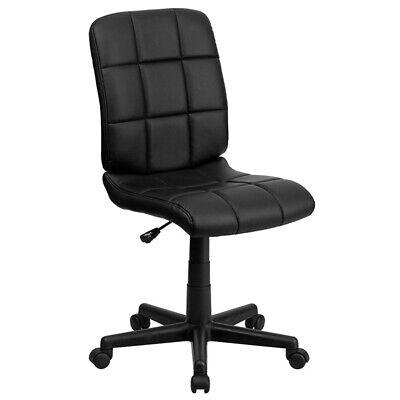Small Black Office Chair Cute Desk Kids Computer Swivel Teen Armless Wheels New