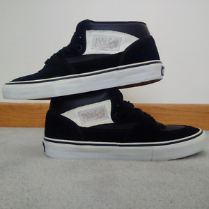 VANS Black Half Cab Pro Skate Shoes size 7.5 Mens