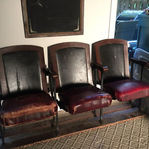 Old fashioned theatre chairs