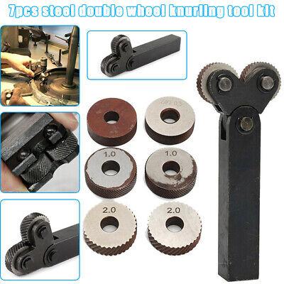 Knurling Tool Diagonal Dual Wheel Linear Knurl Set For Metal Lathe Turning