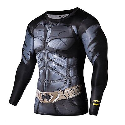 Men's Batman 3D T Shirt Compression Shirt Fitness Clothing O-neck Causal Tees