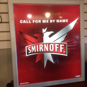 Smirnoff Call for me by name nightclub bar sign light