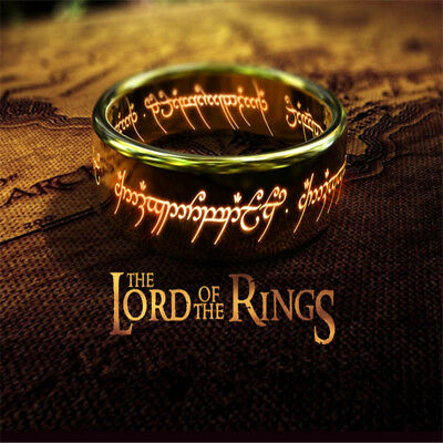 Ring Boy Gifts (Lord Of The Rings Stainless Steel Polished Boy Gold Fashion Jewelry Rings)