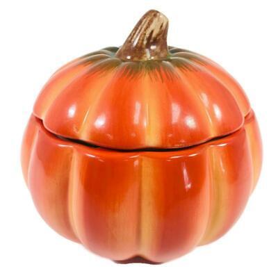 FTD Ceramic Pumpkin Halloween Candy Cookie Jar