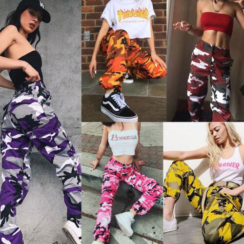 us stock women camo cargo trousers casual