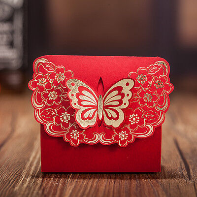 (Elegant Butterfly Wedding Favor Candy Box Bridal Shower Gift)