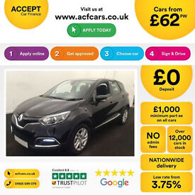 RENAULT CAPTUR 0.9 TCE DYNAMIQUE 1.5 DCI 1.2 SIGNATURE FROM £62 PER WEEK!