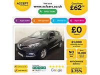 Renault Captur FROM £62 PER WEEK!
