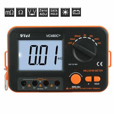 Vc480c Digital Low Resistance Meter Milliohm Ohmmeter Resistance Tester Tools