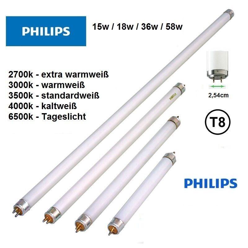 25x Sylvania Leuchtstoffröhre 15W 18W 36W 58W T8 60cm 120cm 150cm Neonröhre Weiß