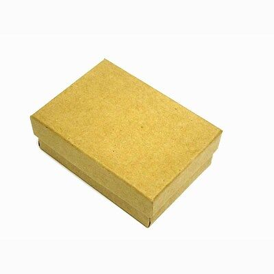 100 Kraft Cotton Filled Jewelry Gift Boxes 3 14 X 2 14