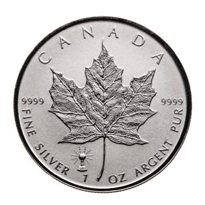 silver Maple leaf  BULB privy/Pièce en argent 1 oz 2018