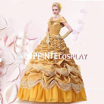 Prinzessin Belle Kleid Erwachsene Deluxe Belle Cosplay Kostüm Ballkleid