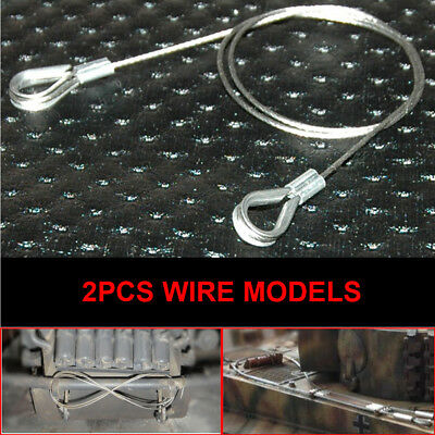 1 Pair 16 Scale WWII German Wire Rope Tow for DIY Pulling Tank Scene Accessory