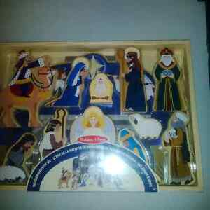 New Wooden Nativity Scene