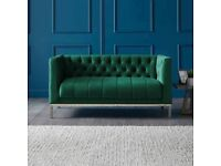 MAYFAIR VELVET 2 SEATER CHESTERFIELD ACCENT SOFA selling at £300 This is £629.99 to buy