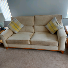 1 x Large 2 Seater Sofa & Chair