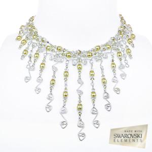 Collier mariage bal argent sterling cristal Swarovski SOLDE