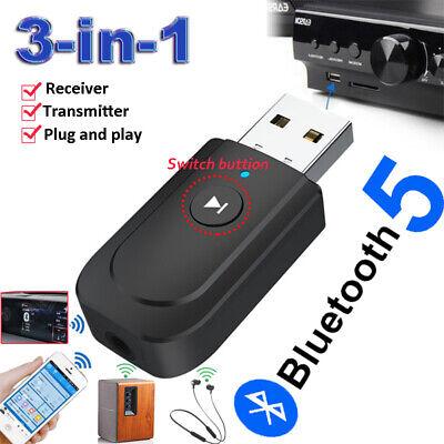 USB Bluetooth 5.0 Adaptador receptor del transmisor de audio por TV PC...