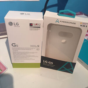 LG G5 - Brand new, color titan and cover case included