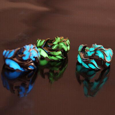 Luminous Dragon Copper Glow In The Dark Ring Punk Steel Men Rings Jewelry - Dragon Ring Jewelry