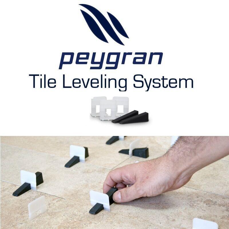 "Peygran Tile Leveling System 1/32"" (1mm) Clips - Lippage-Free tile installation"