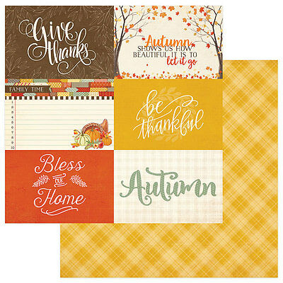 2 Sheets of Photo Play FALLING LEAVES 12x12 Fall Scrapbook Paper - 4x6 Cards (Leaves 12x12 Scrapbook Paper)